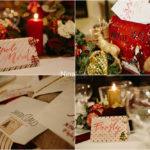 Confetto n° 24. Matrimonio natalizio: tra ghirlande d'argento e preziosi velluti